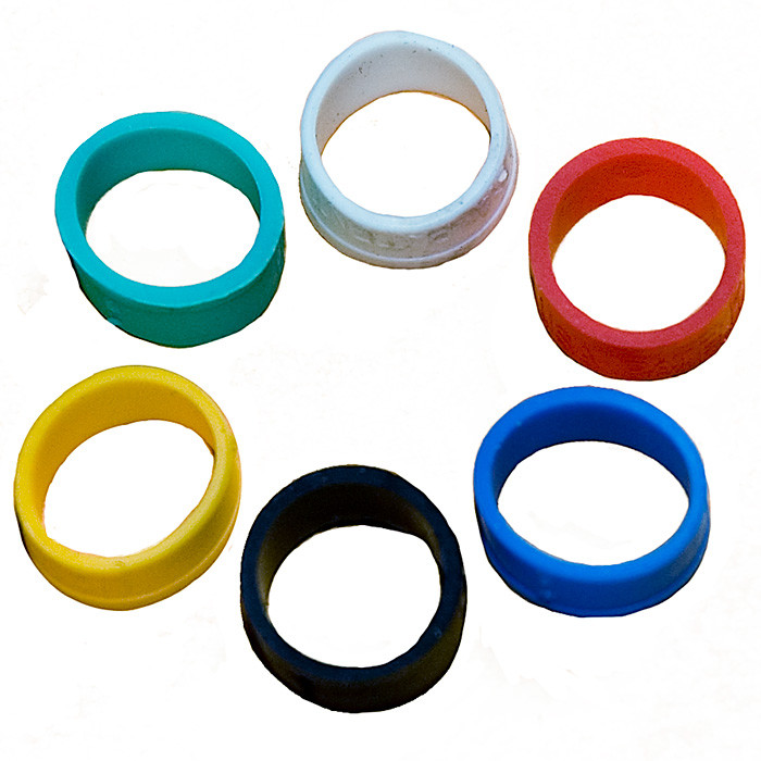 VANCO Color ID Rings for BNC Compression Connectors 6pk