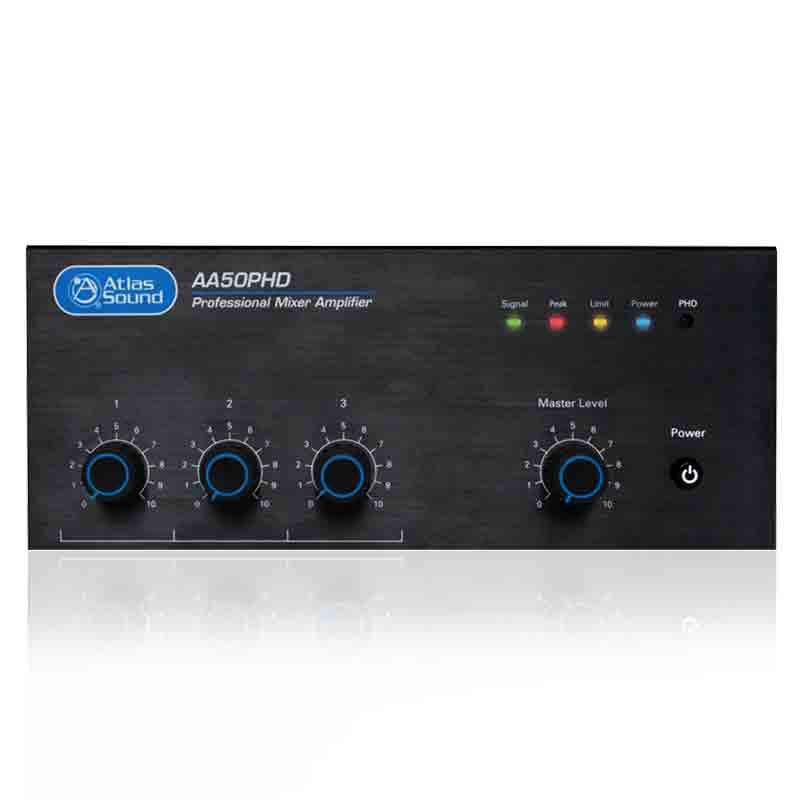 ATLAS 4-Input, 50-Watt Mixer/ Amplifier with Automatic System Test (PHD)