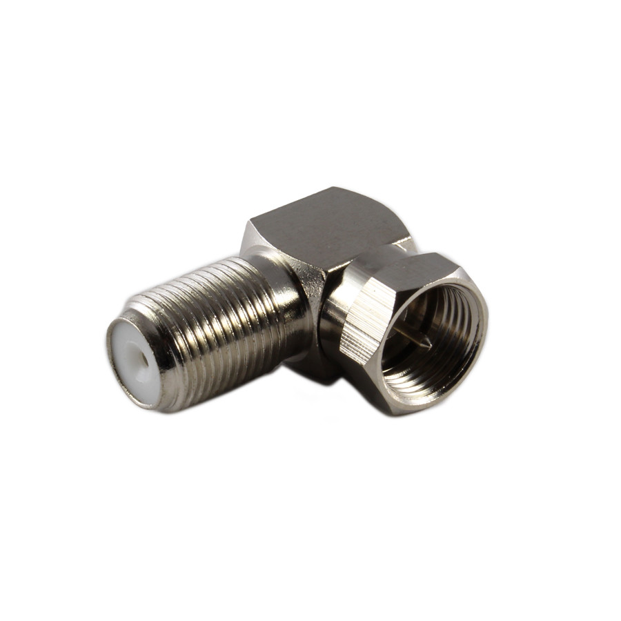 PHILMORE F-Type Right Angle Adaptor Male to Female 10pk