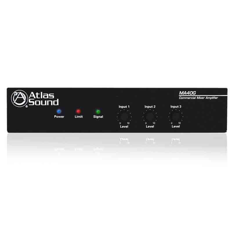 ATLAS 40 Watt 3 Input Mixer Amplifier