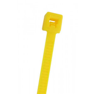 "NTE Cable Ties 5.84"" 40# Yellow 100pk"