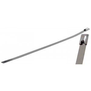 "NTE Stainless Steel Cable Ties 9.45"" 50# 100pk"