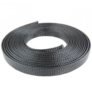 "NTE Expandable Braided Sleeving 3/8"" Black 50' No- Fray"
