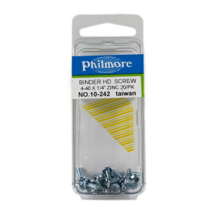 "PHILMORE 4-40 x 1/4"" Binder Head Screws 20pk"