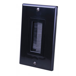 VANCO Black Single Decora Brush Style Wall Plate