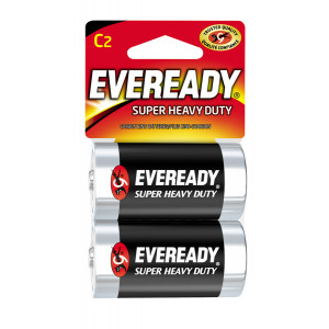 EVEREADY SUPER HD BATTERY 2-PACK C-CELL 1.5-VOLT
