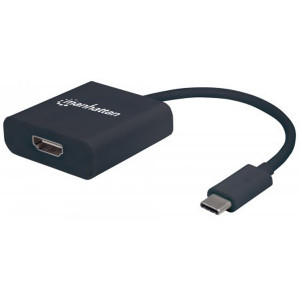 MANHATTAN SuperSpeed+ USB 3.1 to HDMI Converter C Male to HDMI Female