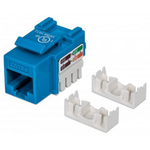 INTELLINET Cat5e Keystone Jack UTP, Blue, Punch-down