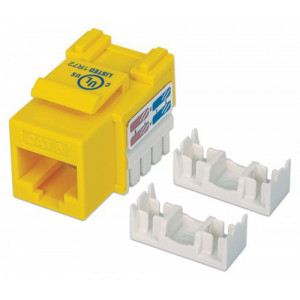INTELLINET Cat6 Keystone Jack UTP, Yellow, Punch-down