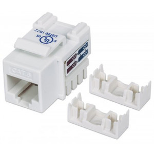 INTELLINET Cat6 Keystone Jack UTP, White, Punch-down