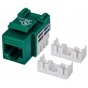 INTELLINET CAT6 Keystone Jack Green