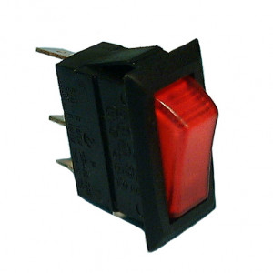 PHILMORE On-Off Snap-in Rocker Switch Lighted