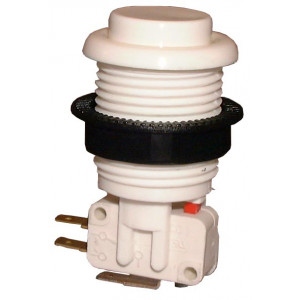 PHILMORE Large White Momentary Pushbutton Switch