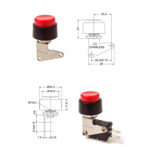 PHILMORE Heavy Duty Momentary Pushbutton Switch