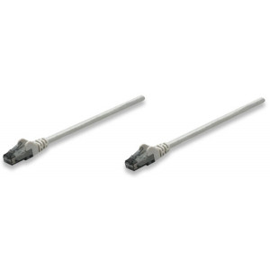 INTELLINET CAT6 Patch Cable 1ft Gray
