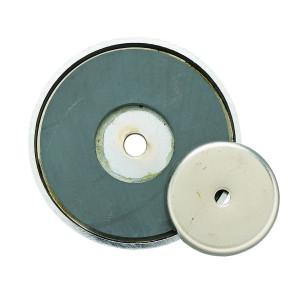 GENERAL TOOLS Ceramic Shallow Pot Magnet 12lb Pull