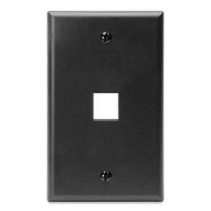 LEVITON Quickport Wall Plate 1-Port Black