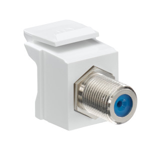 LEVITON Feedthrough QuickPort F-Connector White