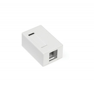 LEVITON Surface-Mount Quickport Box 1-Port White