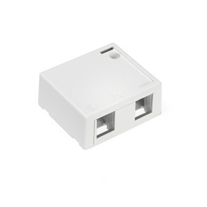 LEVITON Surface-Mount Quickport Box 2-Port White