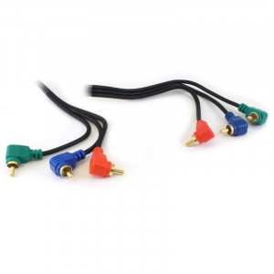 PHILMORE Component Video RGB Cable 6ft Right Angle