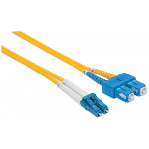 INTELLINET Fiber Optic Patch Cable 10m LC to SC