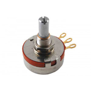 "NTE Potentiometer 100K Ohm 2 Watt Linear Taper 1/4"" Shaft"