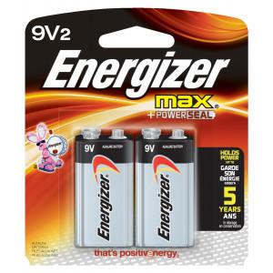 ENERGIZER Alkaline Max 9v Battery 2pk