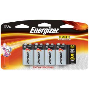 ENERGIZER Alkaline Max 9v Battery 4pk