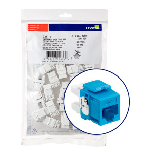 LEVITON Quickport CAT6 Jack Blue 25pk
