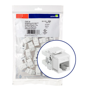 LEVITON Quickport CAT6 Jack White 25pk