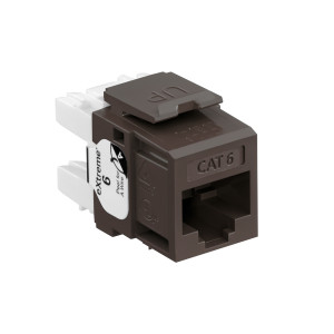 LEVITON Quickport CAT6 Jack Brown