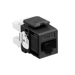 LEVITON Quickport CAT6 Jack Black