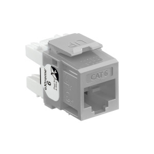 LEVITON Quickport CAT6 Jack Grey