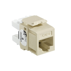 LEVITON Quickport CAT6 Jack Ivory