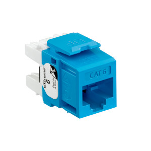 LEVITON Quickport CAT6 Jack Blue