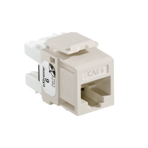 LEVITON Quickport CAT6 Jack Almond