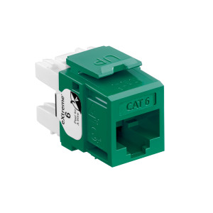 LEVITON Quickport CAT6 Jack Green