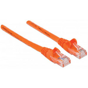 INTELLINET CAT6 Patch Cable 2ft Orange