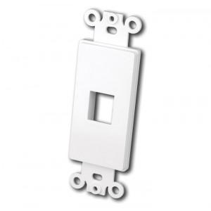 VANCO Quickport Decora Plate 1-Port White