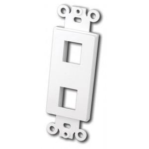 VANCO Quickport Decora Plate 2-Port White