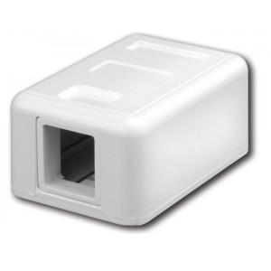 VANCO Surface-Mount Quickport Box 1-Port White