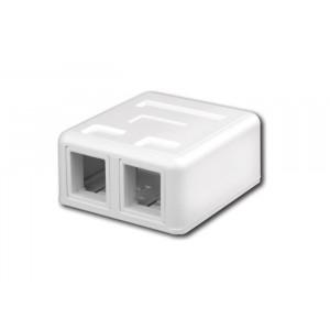 VANCO Surface-Mount Quickport Box 2-Port White