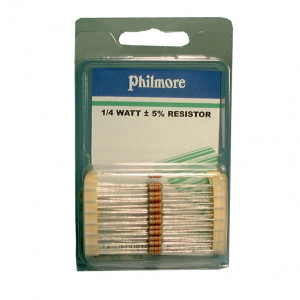 PHILMORE 1.8K Ohm 1/4 Watt Resistor 50 pack