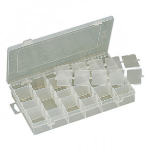 "ECLIPSE Plastic Box with Dividers 11""X7""X1.75"""