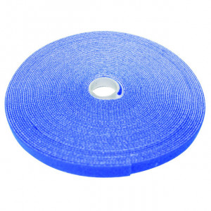 "ECLIPSE 1/2"" Wide Hook and Loop Tape Blue (50 ft)"