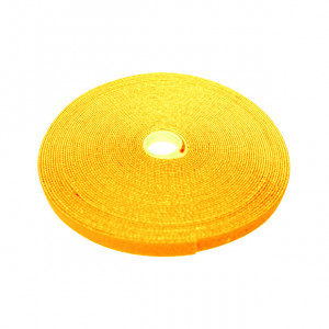 "ECLIPSE 3/4"" Wide Hook and Loop Tape Yellow (50 ft)"