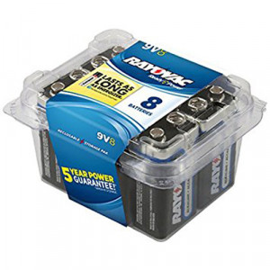 RAYOVAC Alkaline 9v Battery 8pk