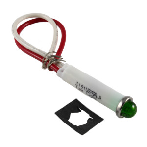 LINROSE Green LED Indicator Light 12v