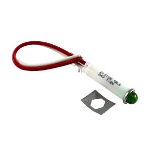 LINROSE Green LED Indicator Light 24v